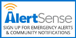Alert Sense to sign up for emergency alerts and community notifications